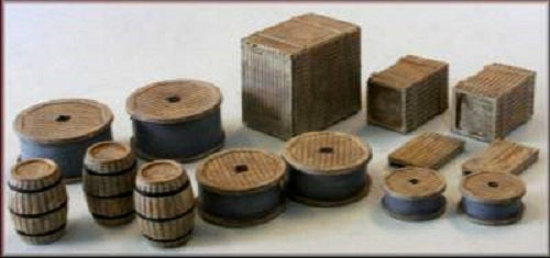 Knightwing International PM139 Crates, Barrels, Sacks, (Double Pack) OO/HO Gauge