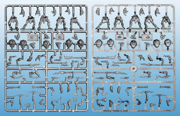 GHOST ARCHIPELAGO Snake-Men 'Frostgrave' Single Sprue