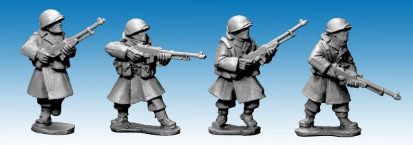 SWW353 - US Infantry in Greatcoats w B.A.R's