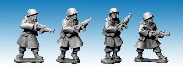 SWW354 - US Infantry in Greatcoats w S.M.G's