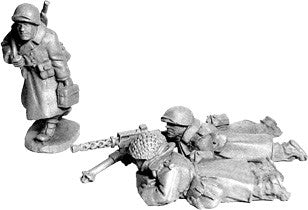 SWW356 - US Infantry in Greatcoats .30cal Team