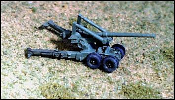 "GHQ US71 M2 ""Long Tom"" 155mm Gun - Deployed"