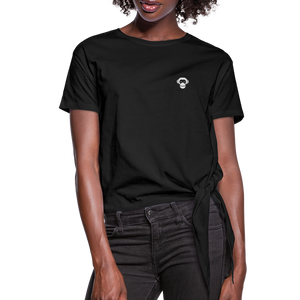 Women's Knotted T-Shirt - noir