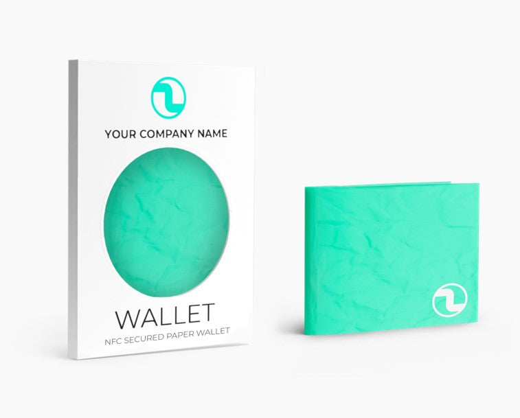 Échantillon NFC-secured Wallet en Tyvek paper