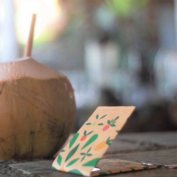 seeds vegan wallet coconut paper monkeywi