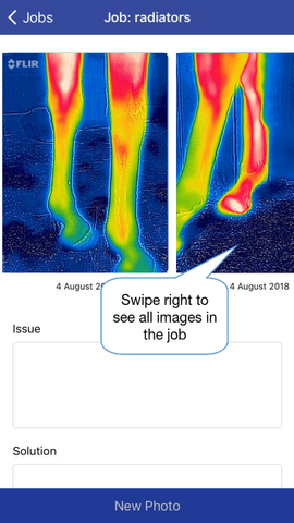 Thermafy user guide, how to view pictures in job