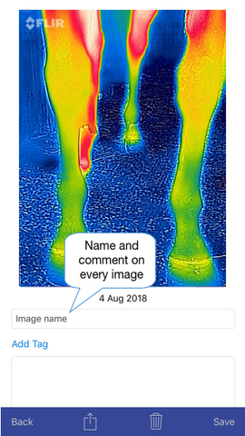 Thermafy user guide, how to name photo
