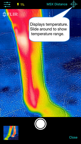 Thermafy user guide, how to view temperature