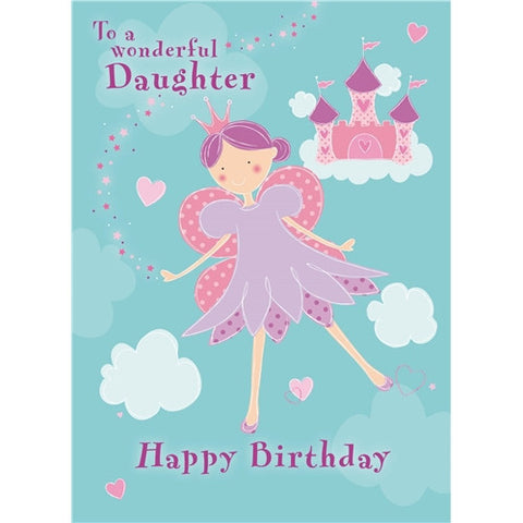 Pretty Fairy Birthday Card - Daughter