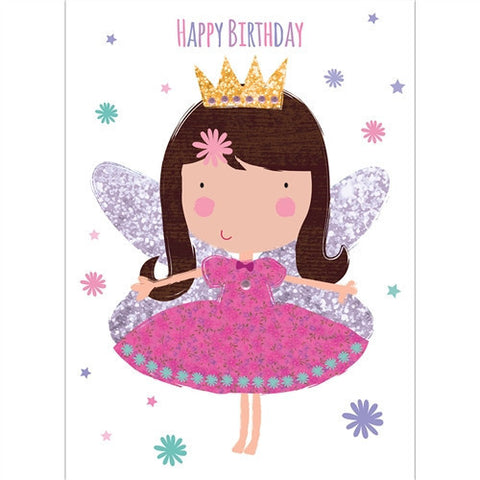 Sparkly Fairy Birthday Card