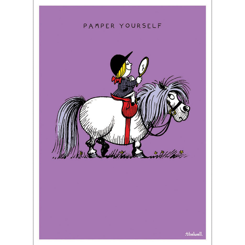 Thelwell Pony Birthday Card - Pampered - All Horsey Gifts
