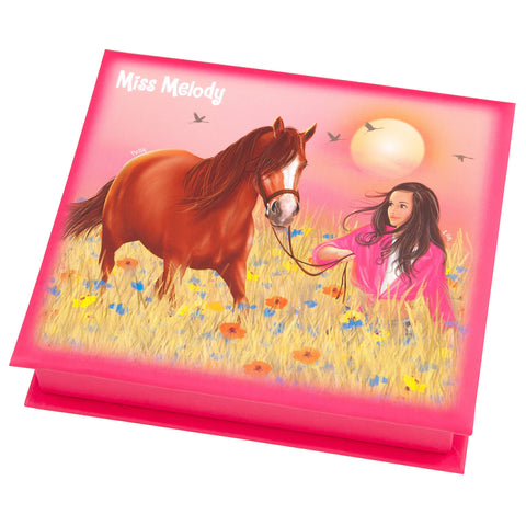 Miss Melody Pink Notelet Box