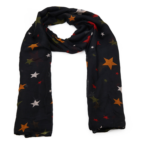Black with Stars Scarf