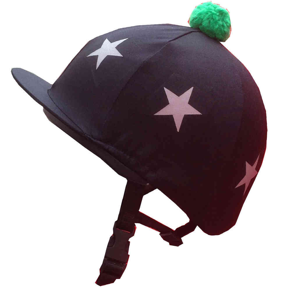 Black Horse Hat Cover with Stars - All Horsey Gifts
