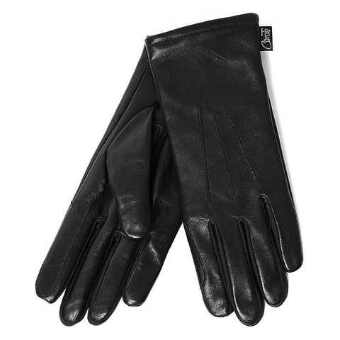 Carrots Black Leather Show Gloves