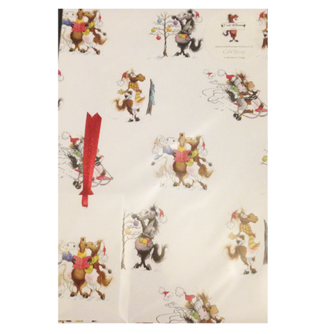 Horses Christmas Wrapping Paper