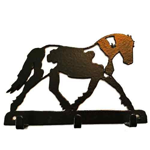Handsome Horse 3 Hook Metal Key Rack - All Horsey Gifts