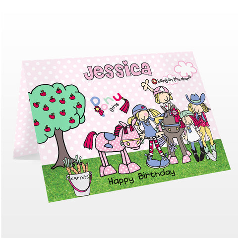 Personalised Pony Girl's Card