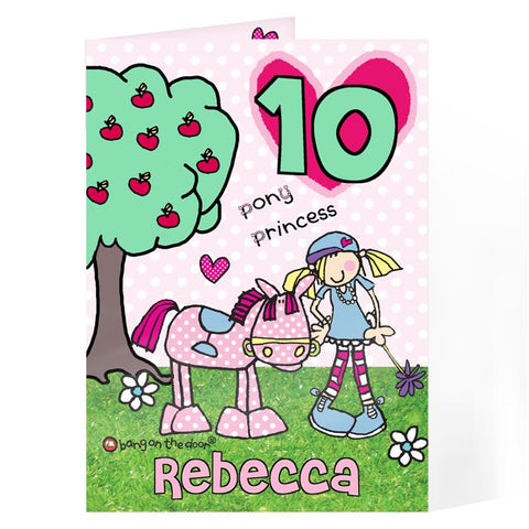 Personalised Princess Pony Card