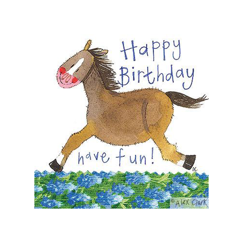 Alex Clark Birthday Card - Birthday Horse