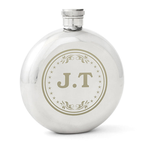 Personalised Round Hip Flask