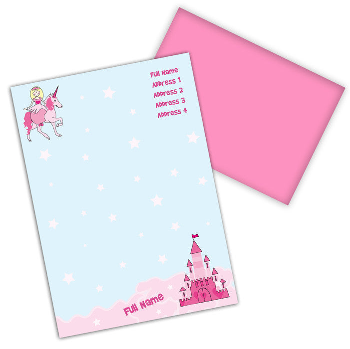 Personalised Unicorn Princess Stationery Set - All Unicorn Gifts