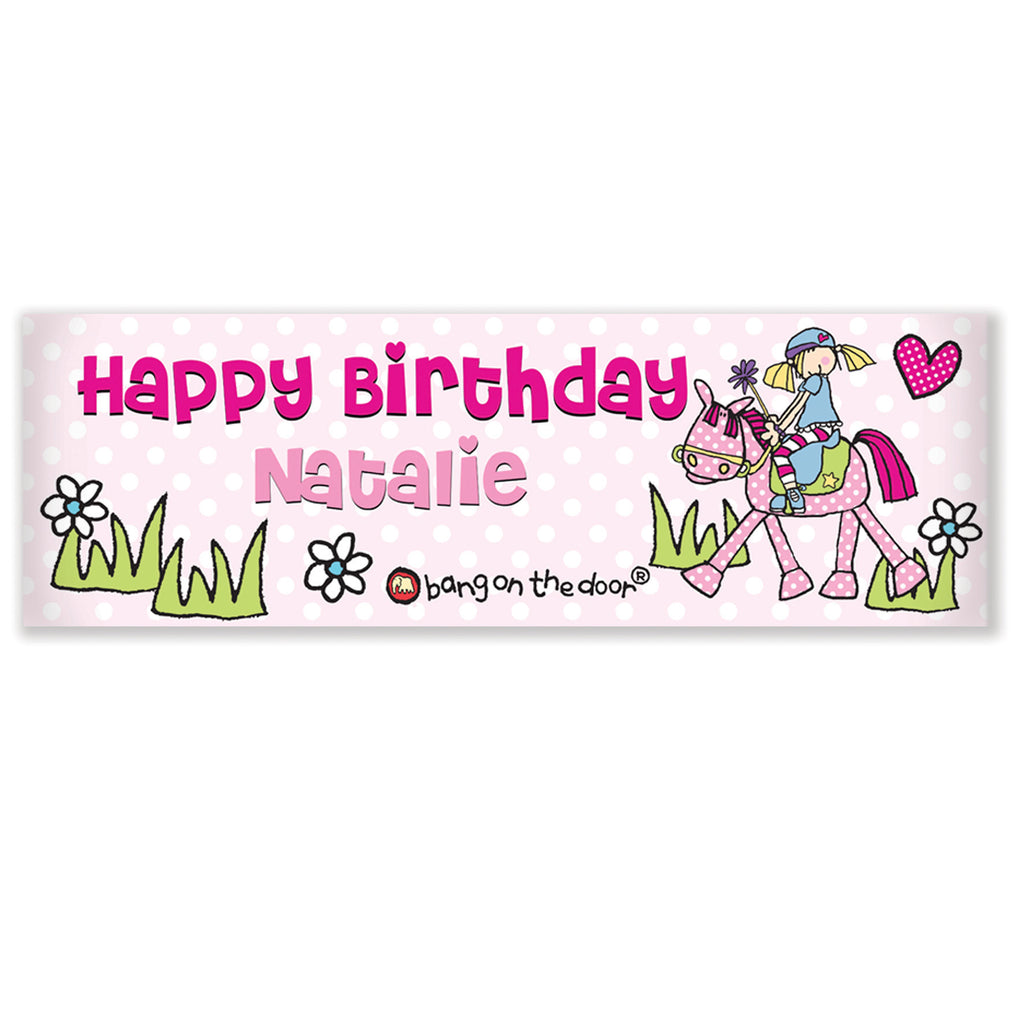 Personalised Pony Banner