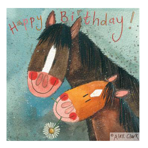 Alex Clark Horsey Happy Birthday Card - Mum and me - All Horsey Gifts
