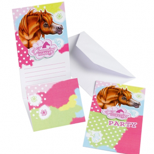 Charming Horses Party Invites x 6 - All Horsey Gifts
