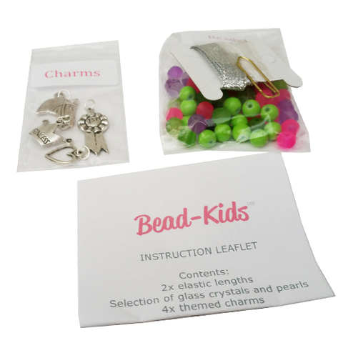 Bright Pony Charm Bracelet Bead Kit - Make your own bracelet - All Horsey Gifts