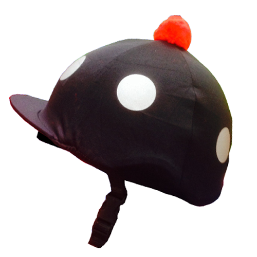Riding Hat Cover silk with reflective Spots, be seen on the roads - All Horsey Gifts