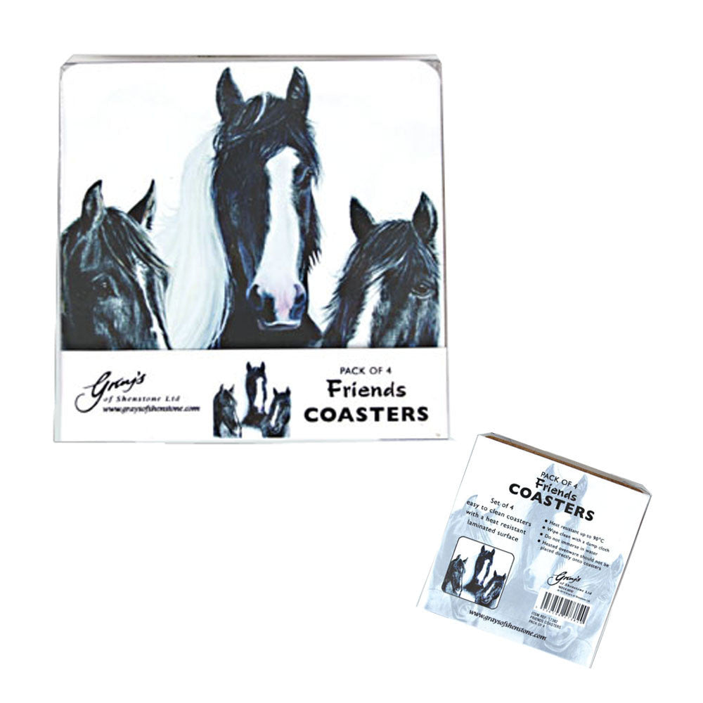 Coasters of Horse Friends x 4 - All Horsey Gifts