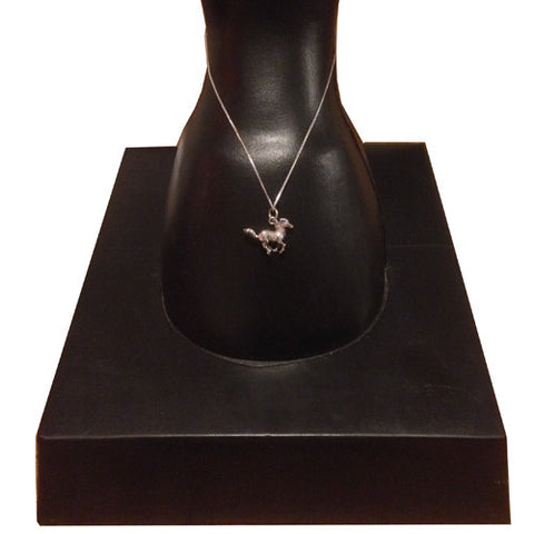 Silver Galloping Horse Necklace - All Horsey Gifts