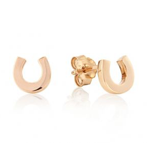 Gemma J Rose Gold Horse Shoe Earrings