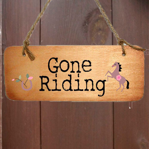 Gone Riding 2 Horse Sign - All Horsey Gifts
