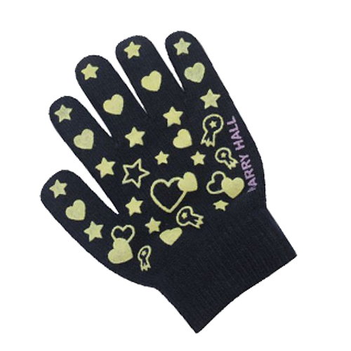Harry Hall Black Kids Glow Pimple Riding Gloves - All Horsey Gifts