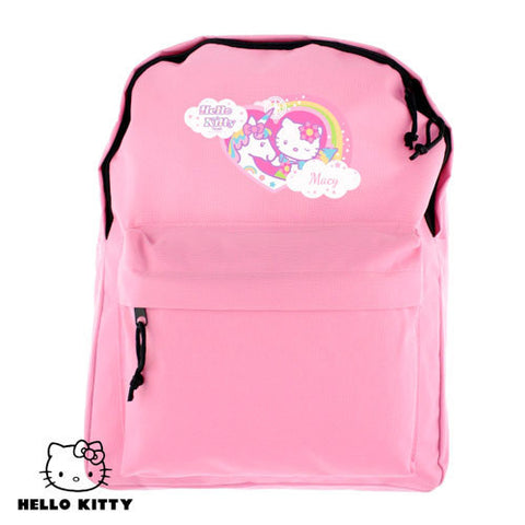 Personalised Unicorn Hello Kitty Back Pack