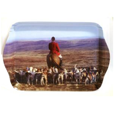 Country Matters Master and Hounds Trinket Tray