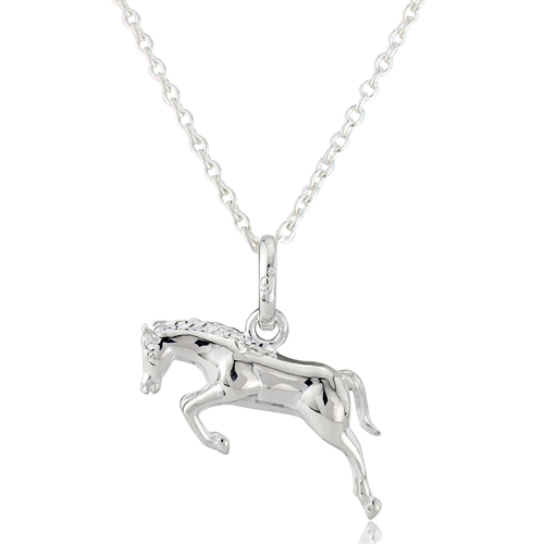 Gemma J Jumping Horse Necklace - All Horsey Gifts