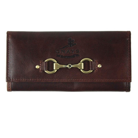 Brown Leather Horse Snaffle Bit Purse