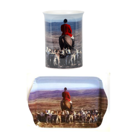 Country Matters Hunting Mug and Tray Special - All Horsey Gifts