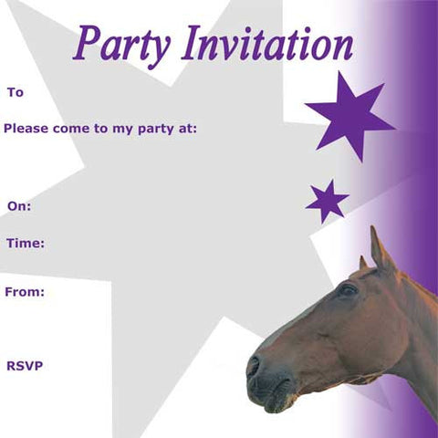 Pony Party Time Pony Invitations Birthday Candles – Horse Party Invitations