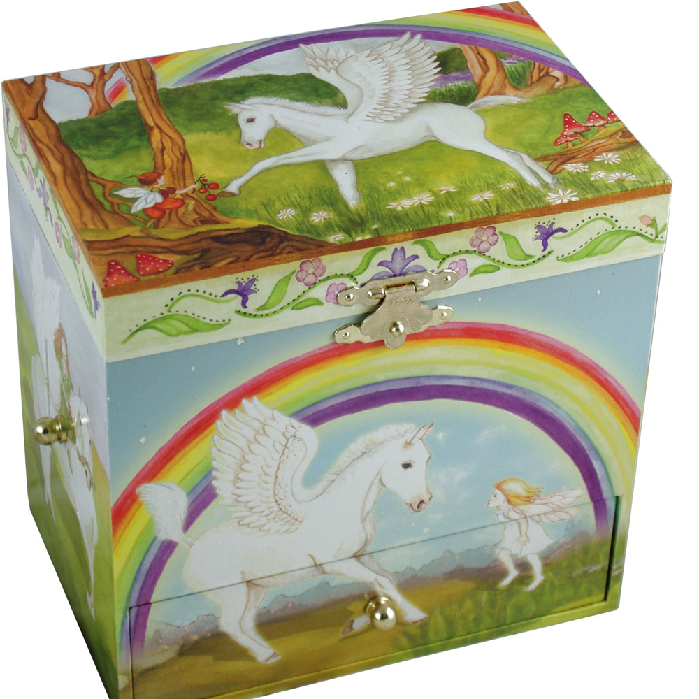 Pegasus Horse Musical Jewellery Box - All Horsey Gifts