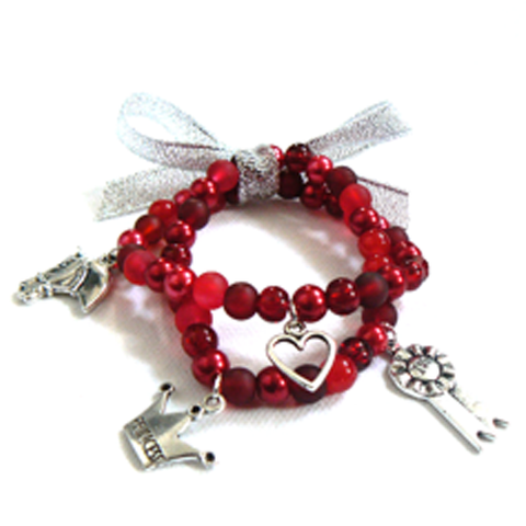 Red Pony Charm Bracelet Bead Kit - Make your own bracelet kit