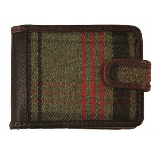 Mens Shenton Leather and Tweed Wallet - All Horsey Gifts - 1