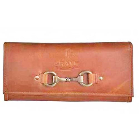 Tan Leather Horse Snaffle Bit Purse