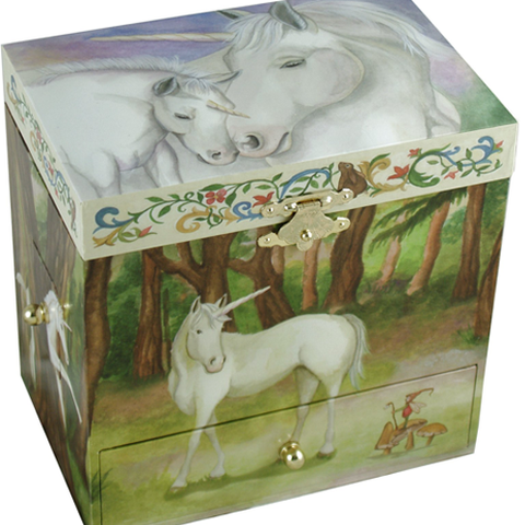 Unicorn Horse Musical Jewellery Box