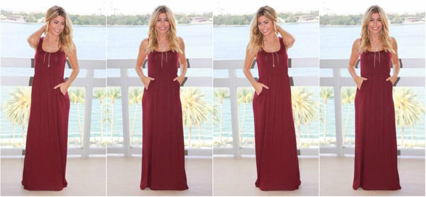 Wine Maxi Saved By The Dress