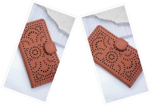 Tan Clutch Wallet