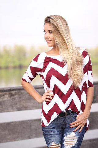 chevron cute top online boutique